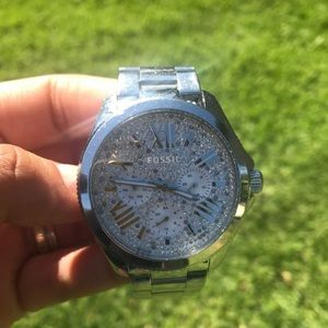 Fossil crystal-set watch